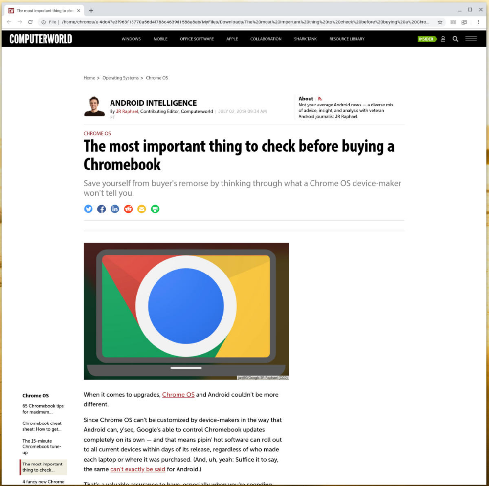 The smart worker's guide to using a Chromebook offline