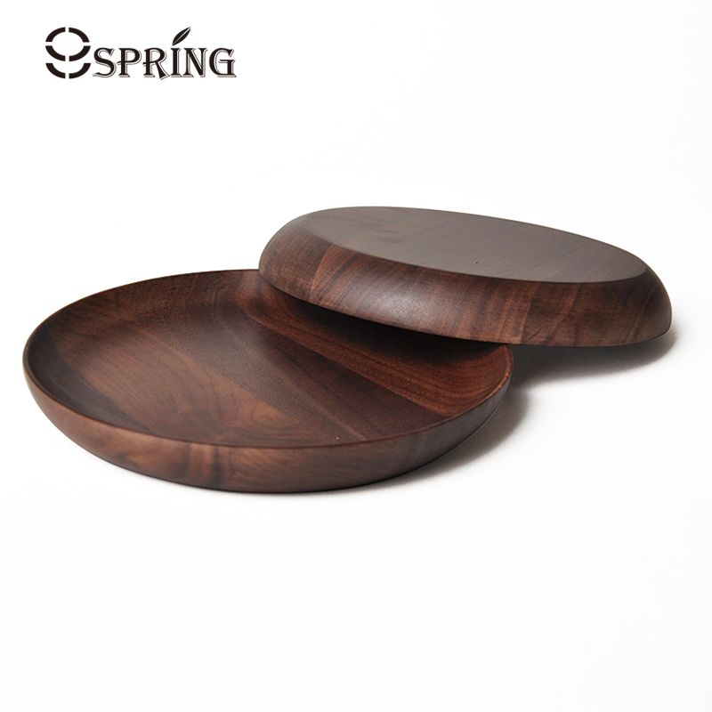 Dia 20cm Premium Round Wood Plates Japanese Cake Tray Wooden Tableware Household Kitchen Utensils Dessert Dishes  sc 1 st  Pinterest : round wooden plates - pezcame.com