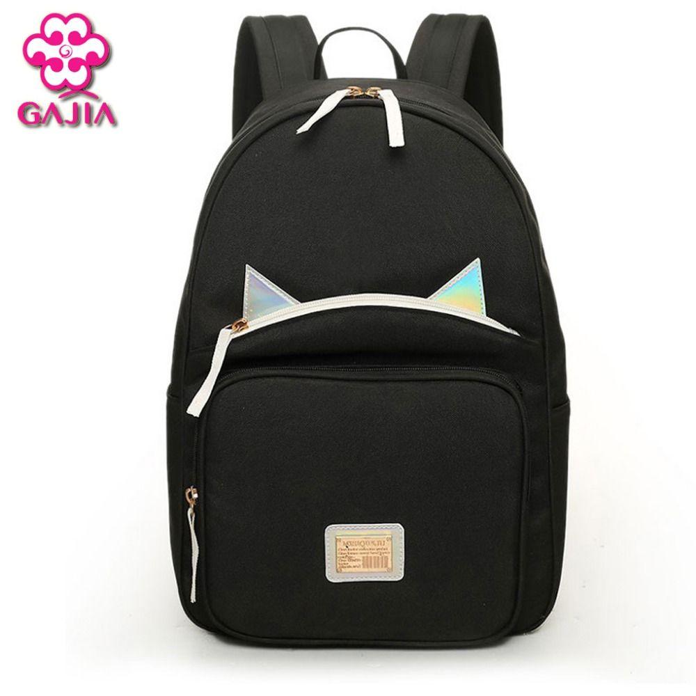 뜨거운 판매 청소년 미니 배낭 높은 품질의 캔버스 일본 한국어 스타일 야광운 여성 어깨 가방