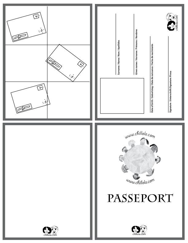 passport french - passport template - passport for kids - passport