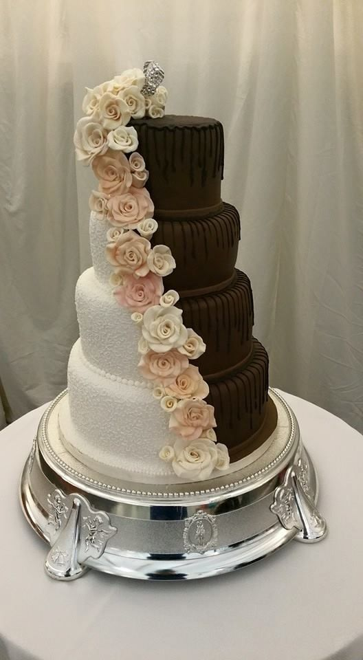 half traditional batman wedding cake the 25 best half and half wedding cakes ideas on 15053