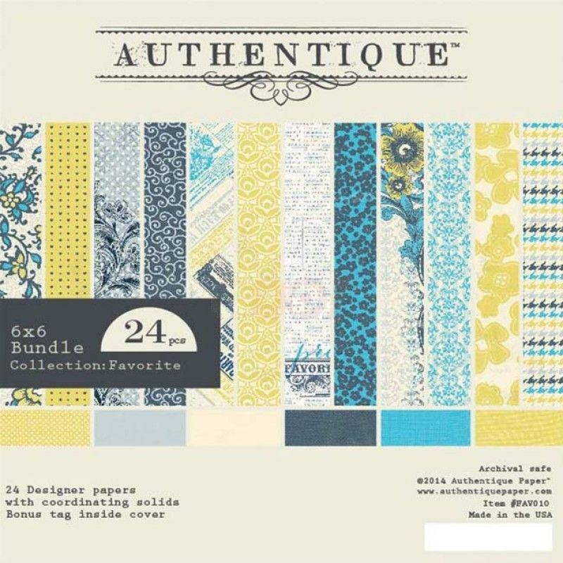 Authentique paper pack pad favorite 6 x 6 authentique