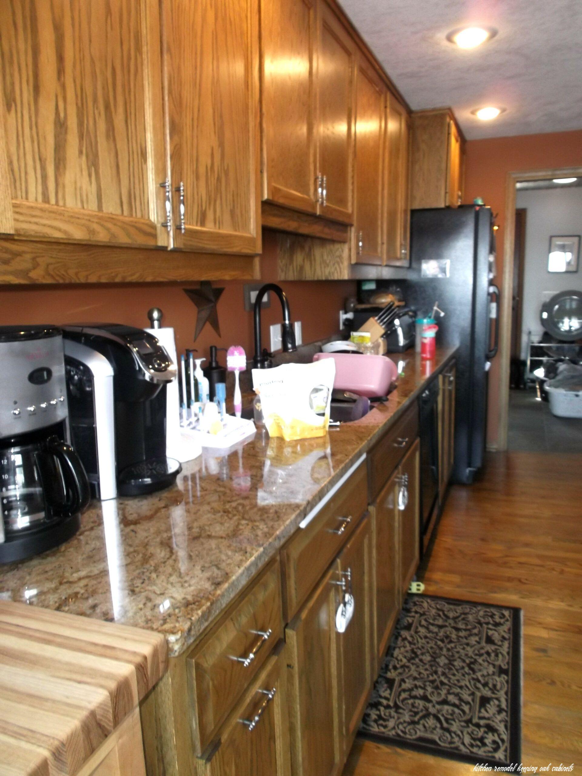 Kitchen Remodel Keeping Oak Cabinets Kitchenremodelkeepingoakcabinets In 2020 Kitchen Remodel Newly Remodeled Kitchens Oak Kitchen Cabinets