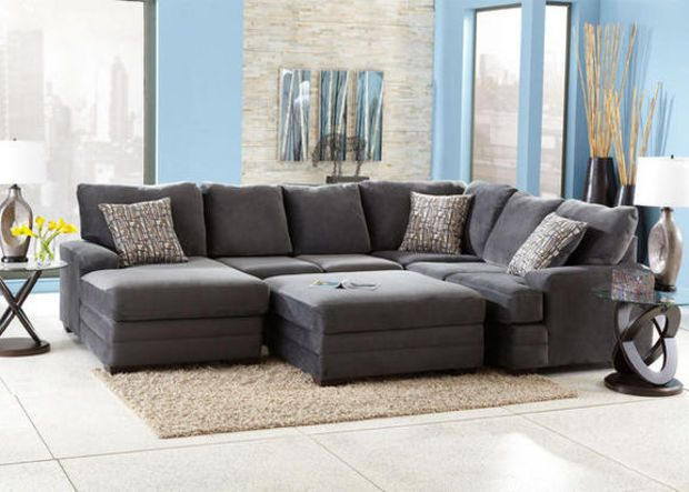 Fine Dylan Charcoal 3 Pc Sectional Reverse Sectionals Theyellowbook Wood Chair Design Ideas Theyellowbookinfo