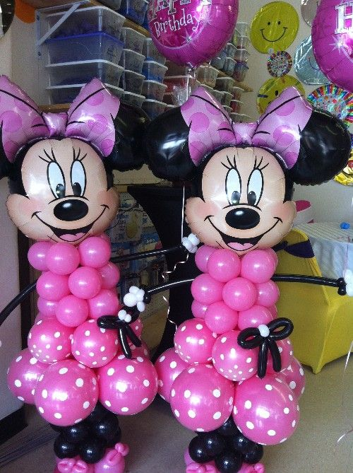 How to make balloon life size minnie mouse minnie for Balloon decoration minnie mouse