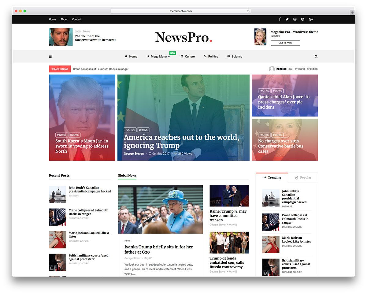 34 Best Wordpress Newspaper Themes For News Sites 2020 Colorlib Magazine Theme Wordpress News Web Design Newspaper Design Layout
