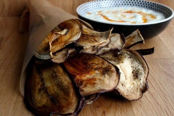 Chips saludables de berenjenas