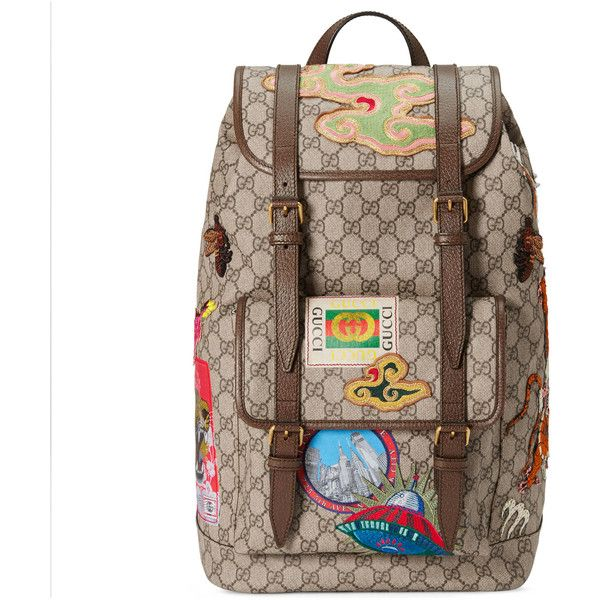 b62044225d84 Gucci Courrier Soft Gg Supreme Backpack ( 2