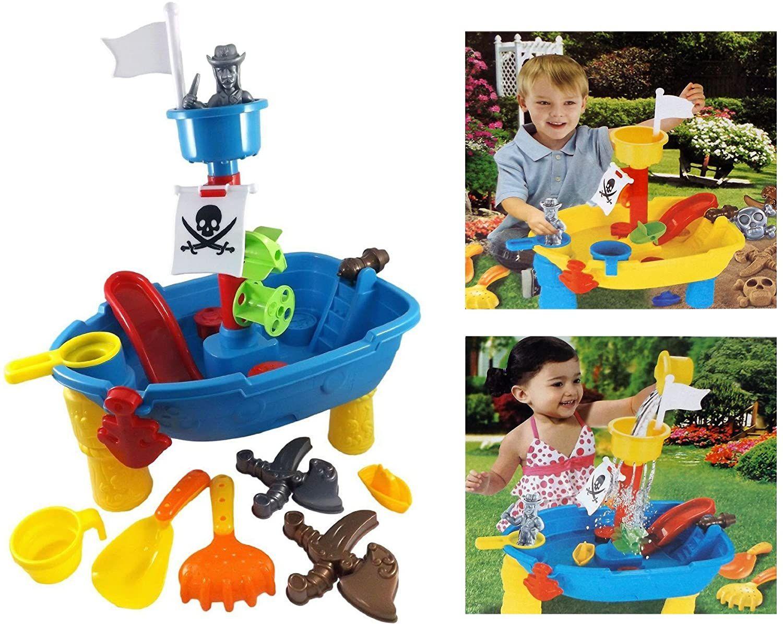 Piratenschiff Spieltisch Wasserspielzeug Fur Kinder Spielzeug Fur Die Badewanne Oder Sandkasten In 2020 Wasserspielzeug Spielzeug Draussen Spielzeug