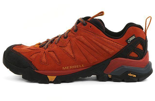 dfbdbf9546 Merrell Mens Capra Gore-Tex Orange Outdoors Hiking Boots Trail Shoes ...