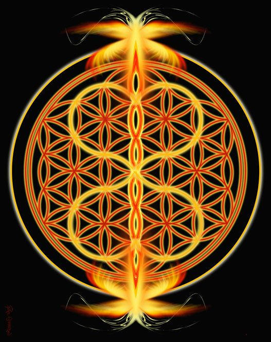 Twin Flames Fire Sacred Geometry Mandala Art By Pearlwhitecrow
