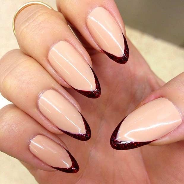 31 Cool French Tip Nail Designs Stilettos Stylish Nails And