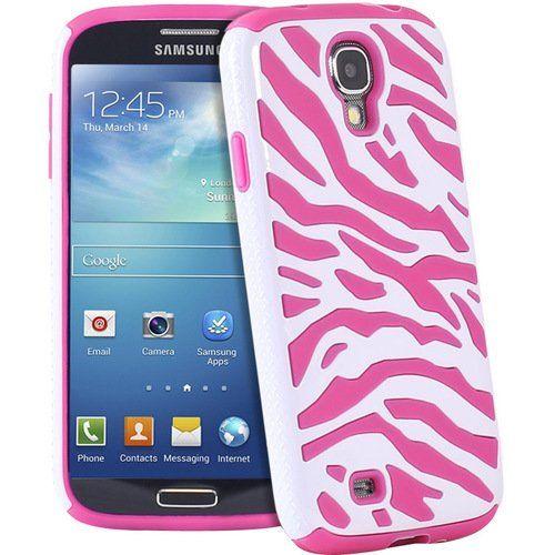 #Heavy Duty Rugged Hybrid Zebra Hard/Soft Case Cover for Samsung Galaxy S4