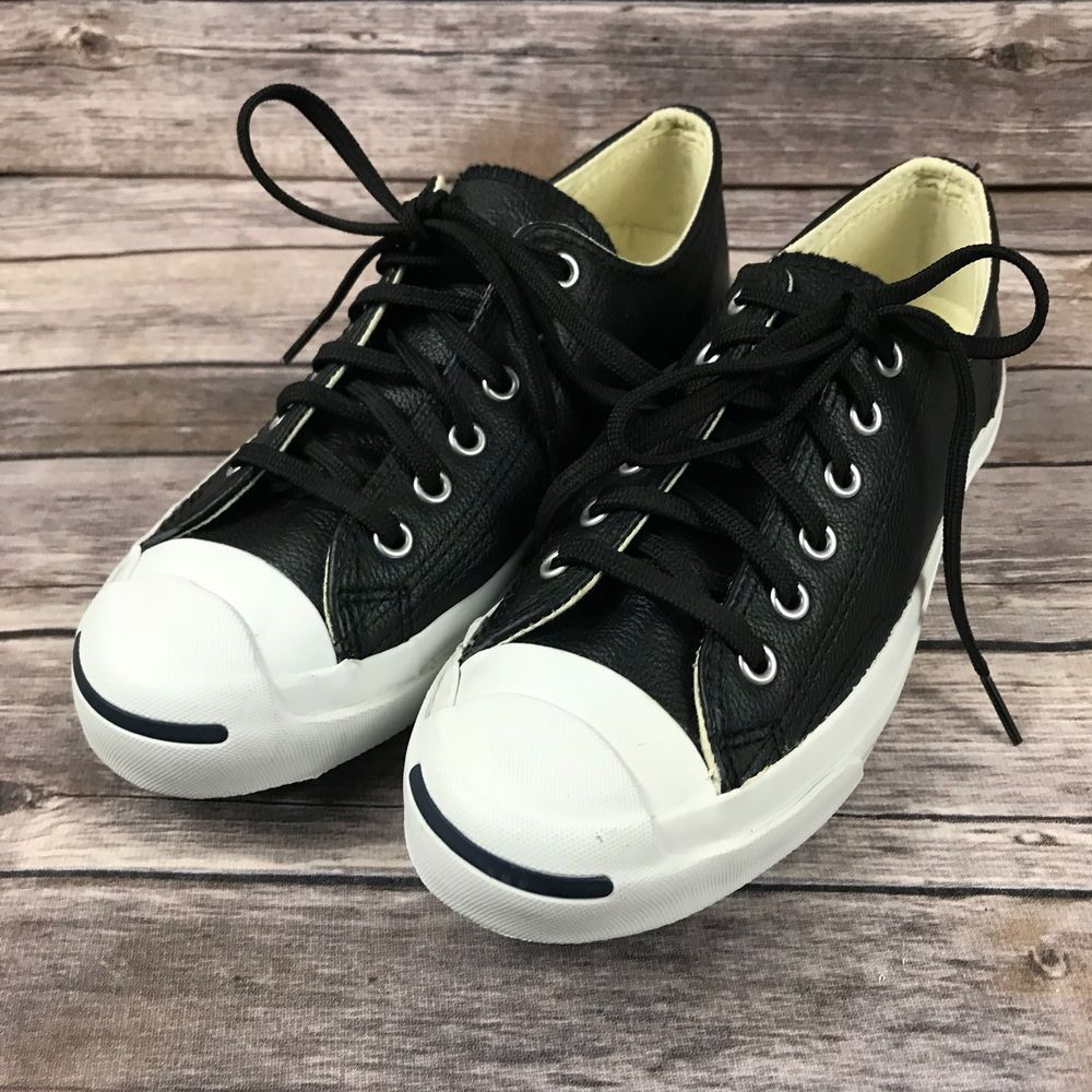 9083d331e80 Converse Jack Purcell Leather OX 1S962 Black Casual Shoes 6.5 (D