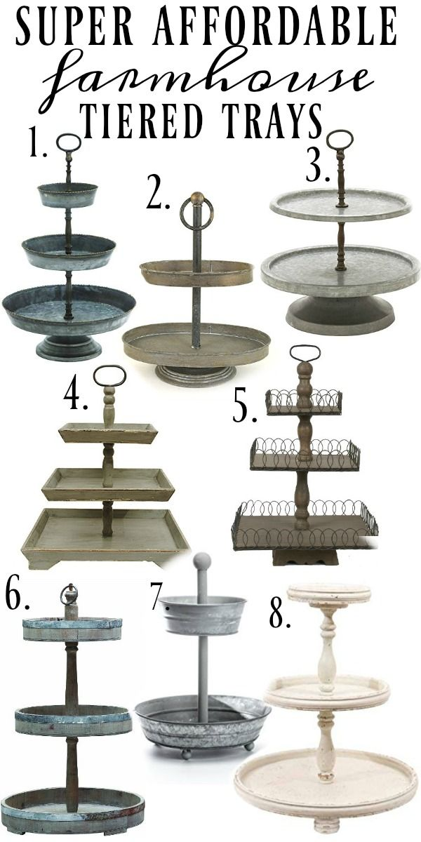 25bf39bd55 Super affordable farmhouse style tiered trays - A must pin   great blog for  farmhouse style   cottage style decor inspiration!