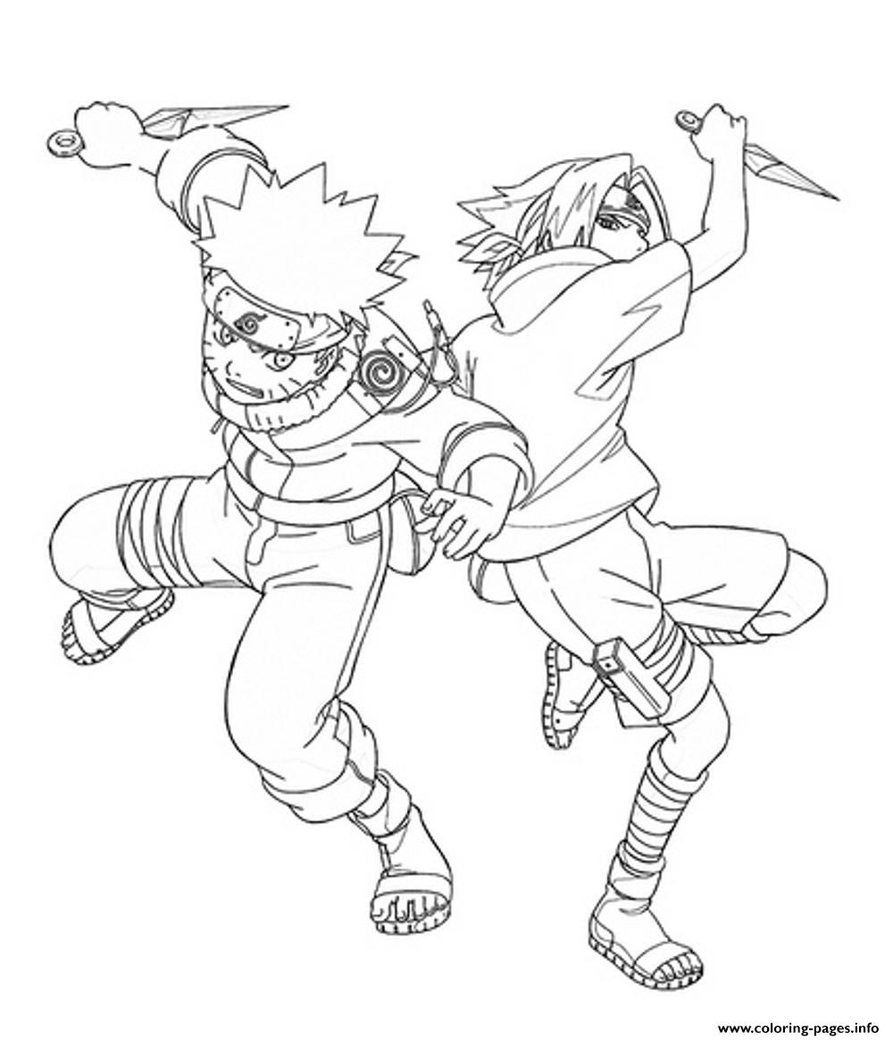 Print Coloring Pages Anime Naruto And Sasuke1345 Coloring Pages