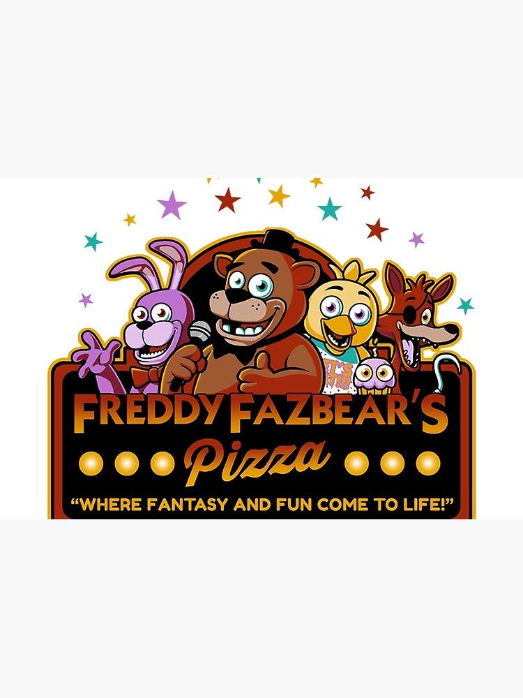 Five Nights At Freddy S Freddy Fazbear S Pizza Fnaf Logo Laptop Skin By Jacobzking Redbubble Fnaf Five Nights At Freddy S Freddy Fazbear