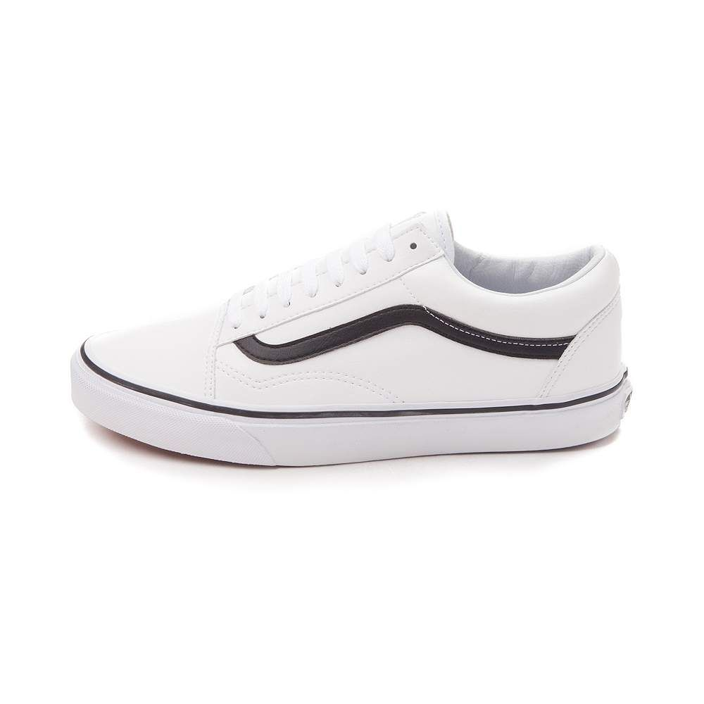vans old skool black and white leather