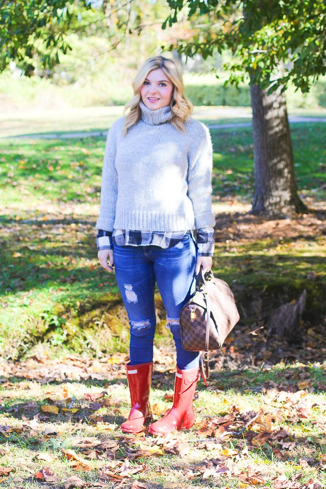 GlamGrace.com red hunter boots