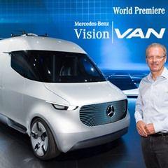 Mercedes-Benz show car 'Vision VAN' in Stuttgart