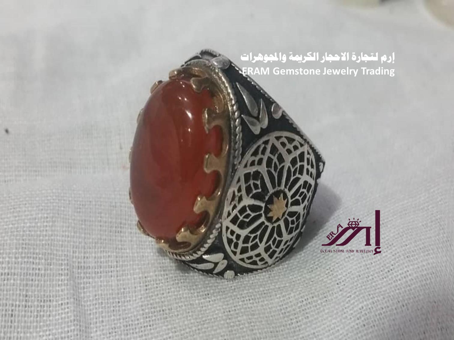 اجمل العقيق اليماني الاحمر خاتم عقيق يمني Agate مميز طبيعي100 للعرض Gemstone Jewelry Gemstones Jewelry
