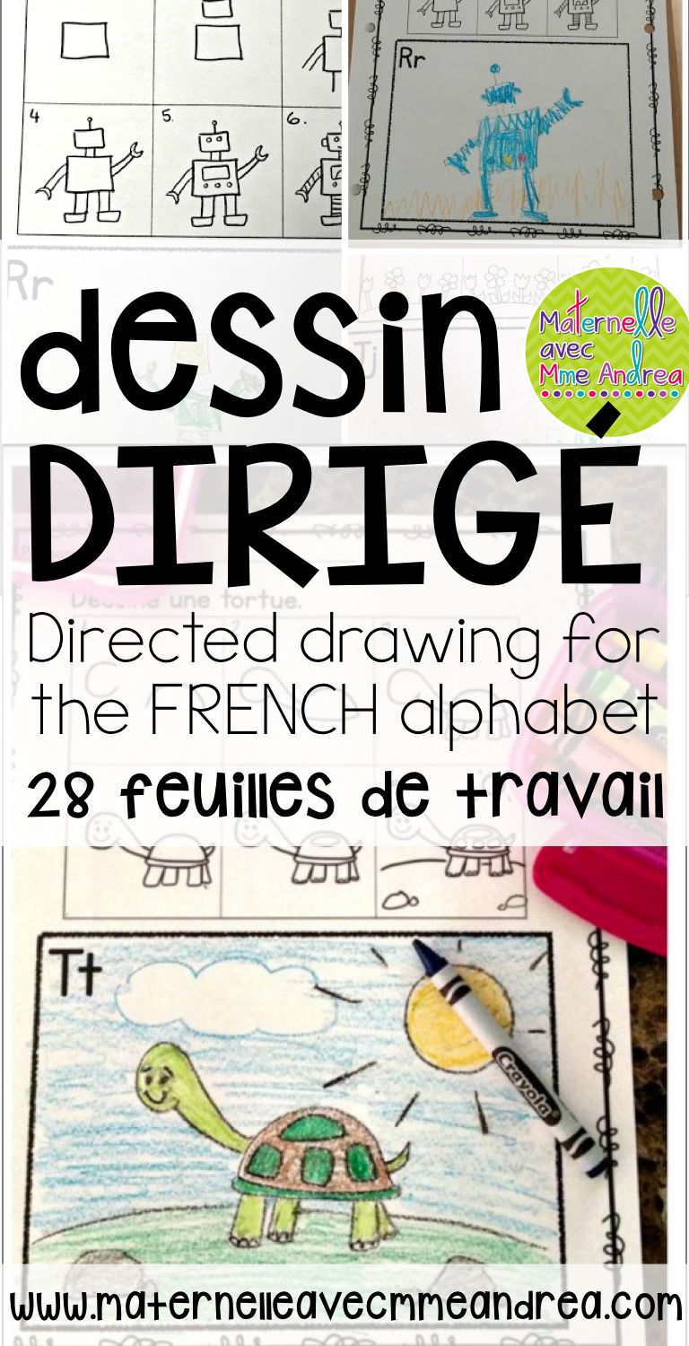 dessin dirig directed drawing for the french alphabet - Alphabet Francais Maternelle