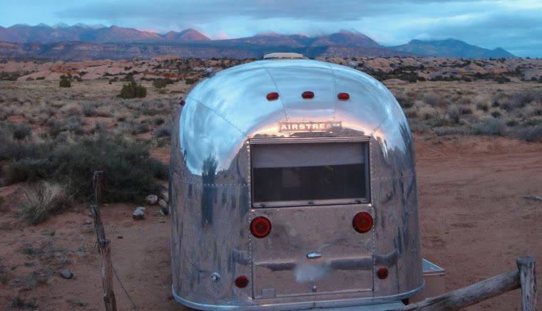 1967 Airstream Globetrotter Fall In Moab With New Zamp