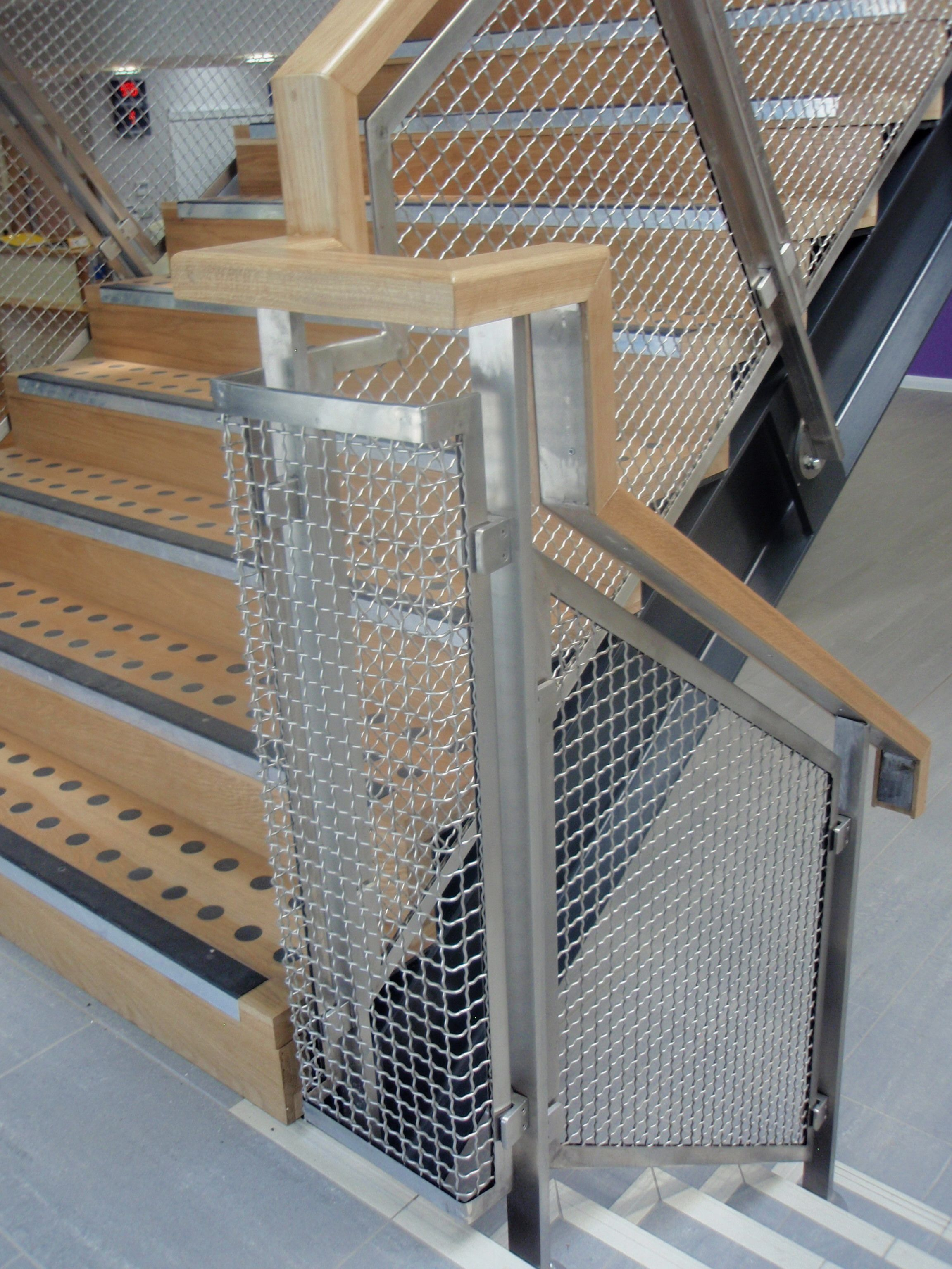 Aston Joint Services Internal Metal Mesh balustrade infill panel Product Concord S428 architecture interiordesign stairs staircase balustrade