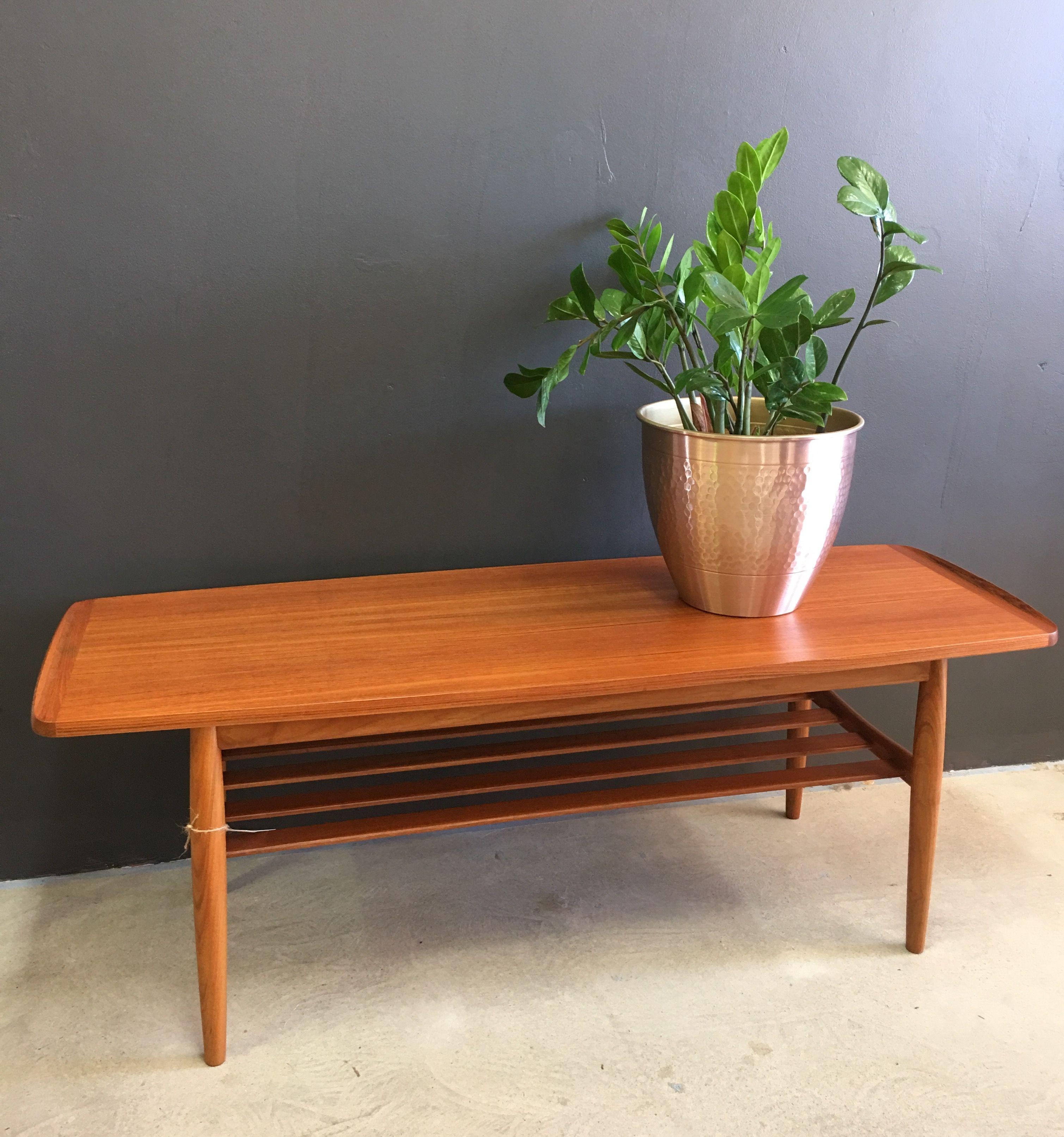 SOLD Parker furniture vintage restored teak coffee table ...