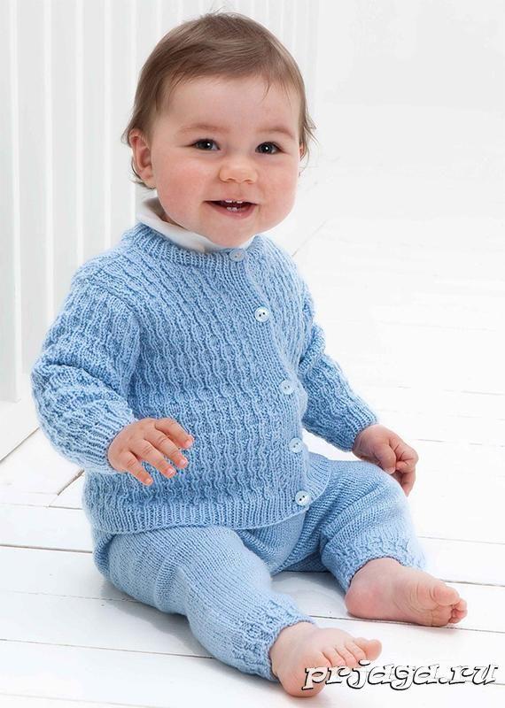 Комплект для малыша спицами | Вяжем детям | Pinterest | Bebe