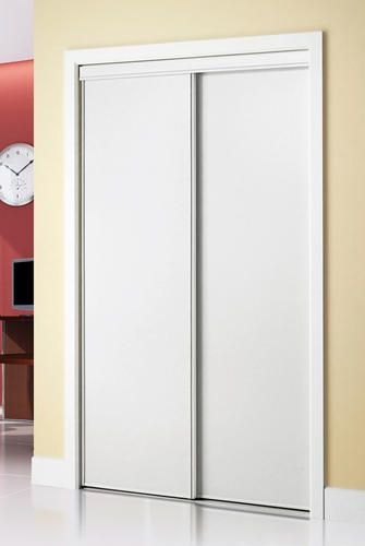 Colonial Elegance Hardboard 48 X 80 1 2 White Framed Sliding Door