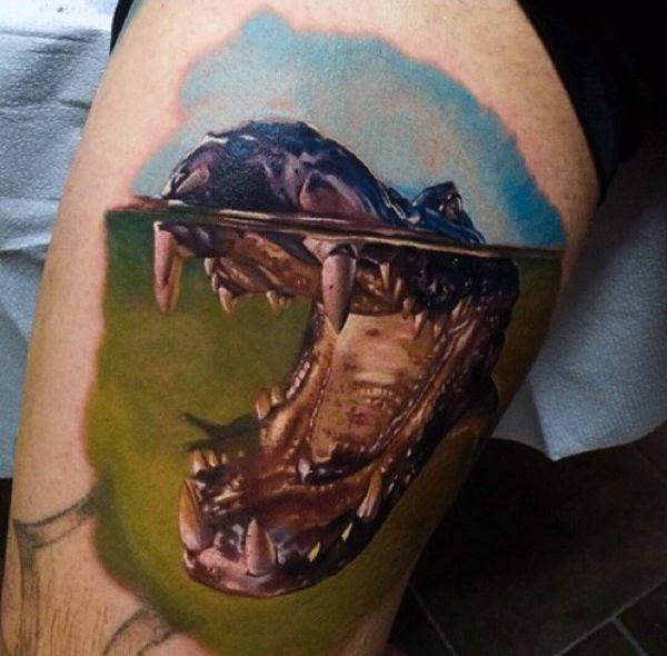 5d00409c105fee 60 Alligator Tattoo Designs For Men - Cool Crocodiles