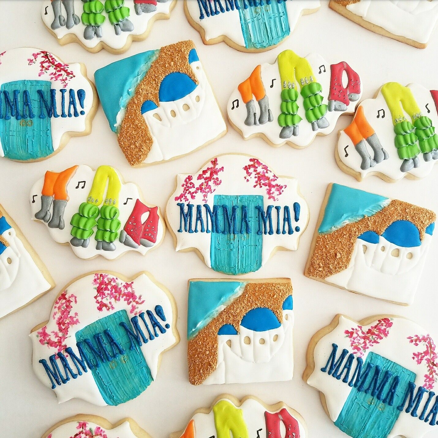 Decorated Sugar Cookies Mamma Mia Cookies
