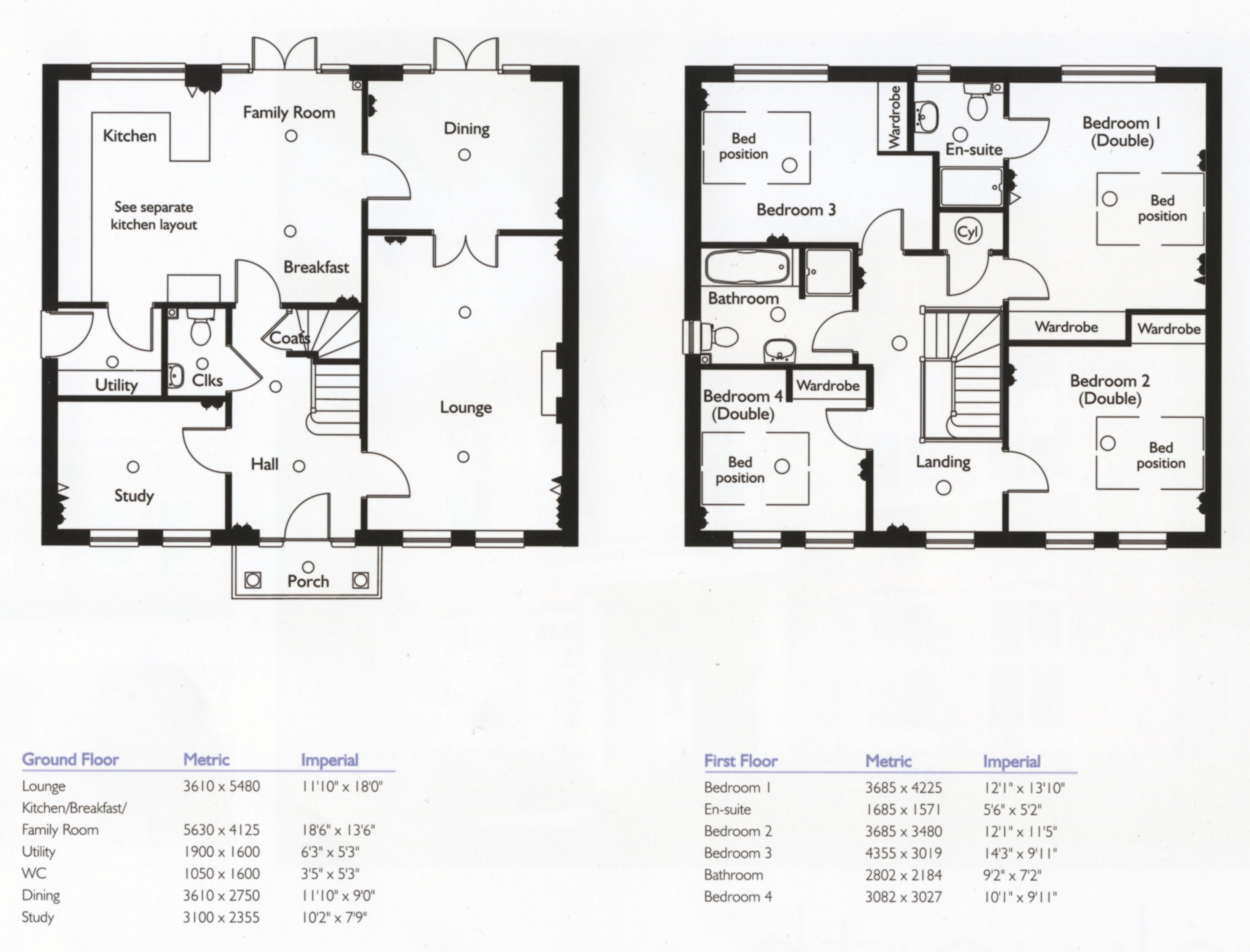 Bianchi family house floor plans bedroom ideas new house Family home floor plans