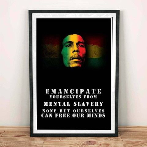 Poster - Redemption Song Bob Marley Quote #music #song #redemption ...