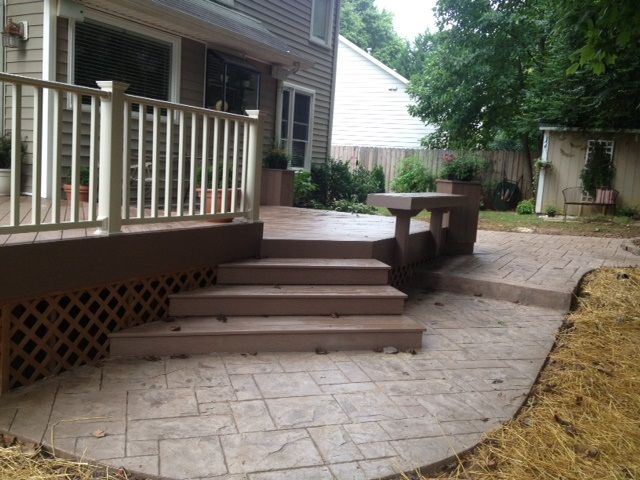 Exceptional This Deck And Patio Combination In Greensboro, NC Proves To Be The .