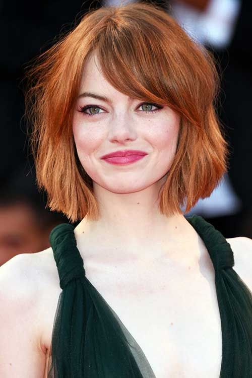 Short Bob Hairstyles For Round Faces 2015 Thick Hair Styles Hair Styles Short Hair Styles