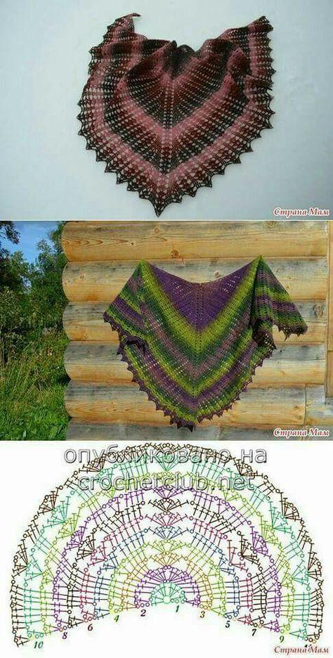 Crochet Wild Wheat Shawl Free | şallar | Pinterest | Tücher, Schals ...