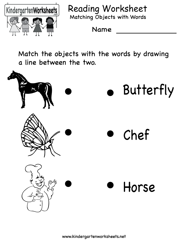 reading worksheets – Reading Worksheets Kindergarten