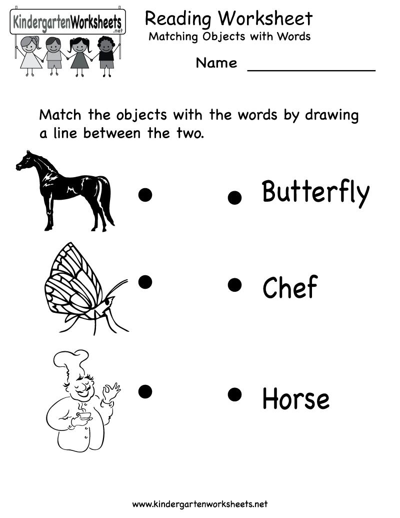 Reading Worksheet - Free Kindergarten English Worksheet for Kids   Fun  worksheets for kids [ 1035 x 800 Pixel ]