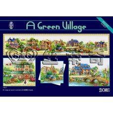 Набор для вышивки крестом DOME 80302 Зеленая деревенька