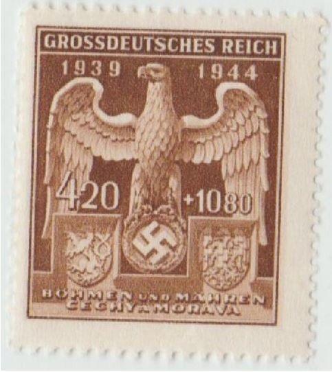 Rare NAZI German Original Stamp * * Eagle & Swastika