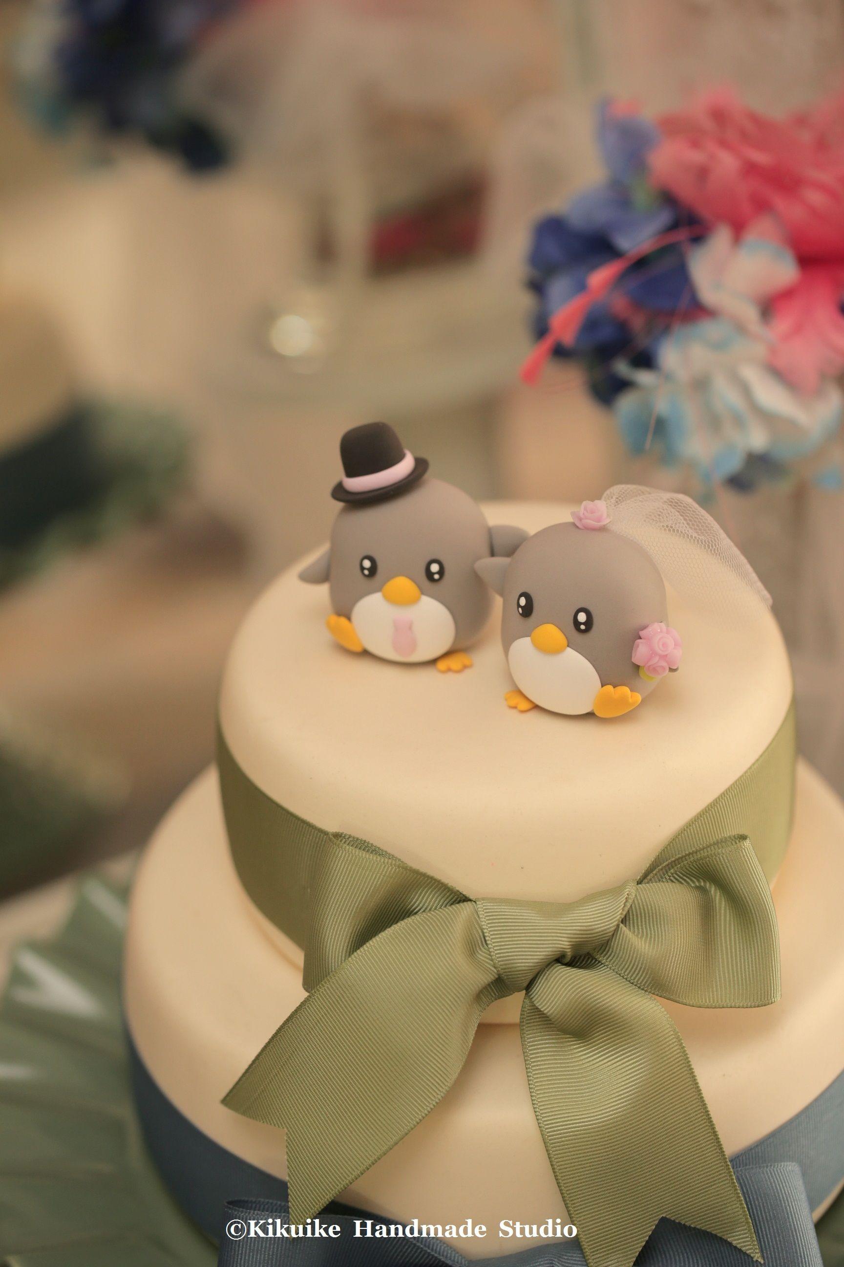 penguins bride and groom Wedding Cake Topper #wedding cake #cake ...