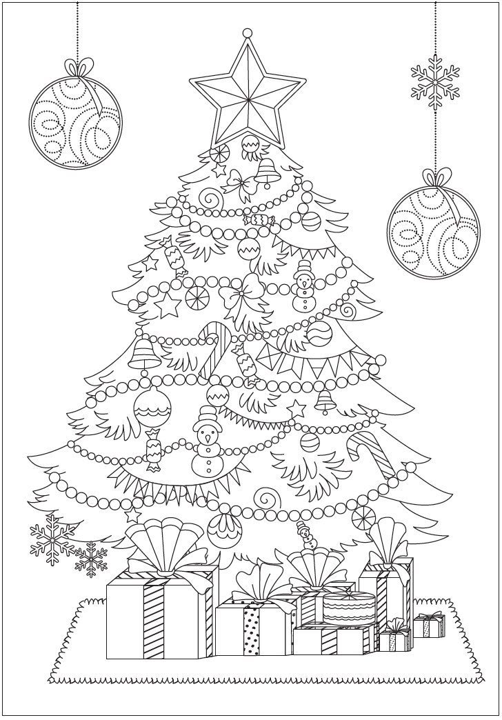 Christmas Tree Free Christmas Coloring Pages Christmas Tree Drawing Christmas Tree Coloring Page