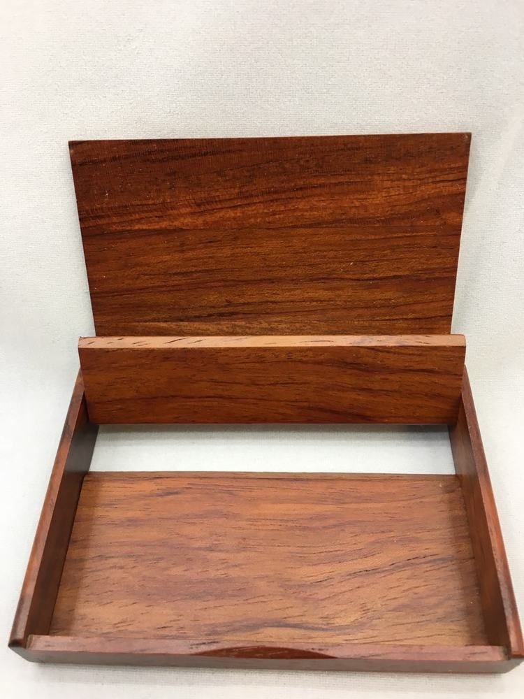 Walnut wooden business card holder personal display salesman boss walnut wooden business card holder personal display salesman boss gift ebay reheart Choice Image