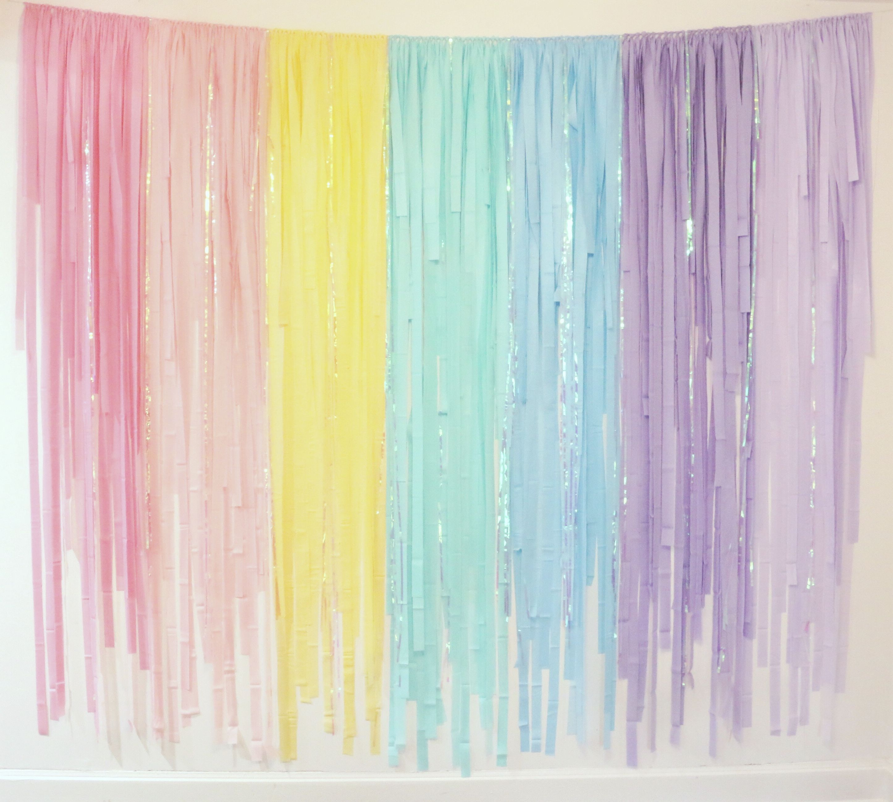 Pastel Rainbow Streamer Fringe Backdrop