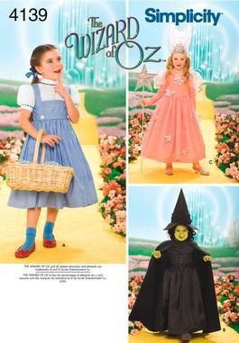 WIZARD OF OZ / Child Costume Pattern / Dorothy - Glinda - Wicked ...