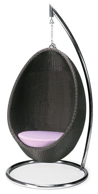 Egg Swing Chair - Would love this on a small balcony.