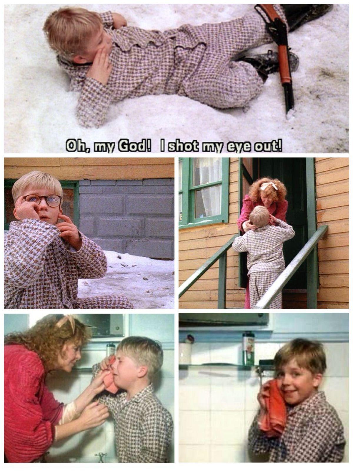 A Christmas Story 1983 - Ralphie fake crying
