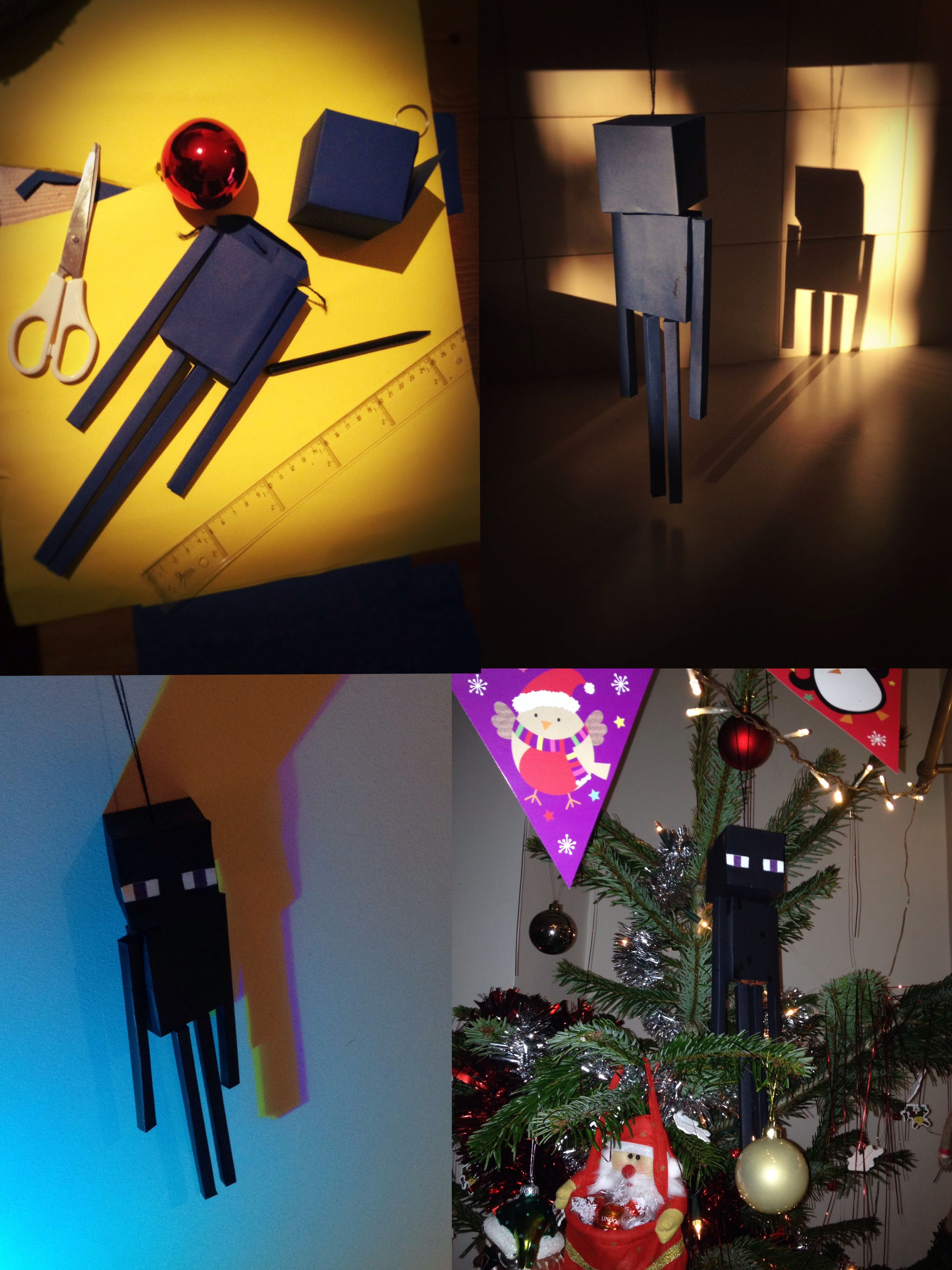 Christmas Minecraft Decorations.Minecraft Enderman Tree Decoration Craft Ideas Minecraft